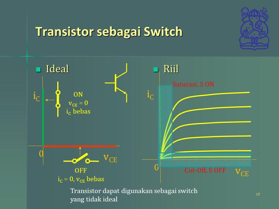 Transistor sebagai Switch