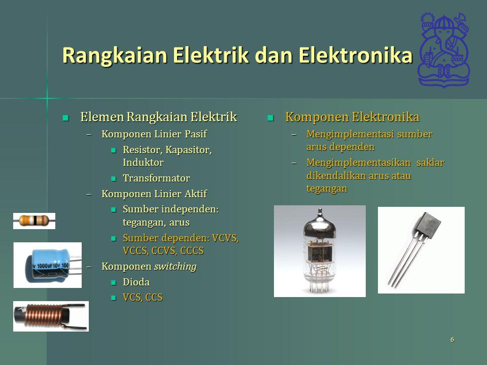 Rangkaian Elektrik dan Elektronika
