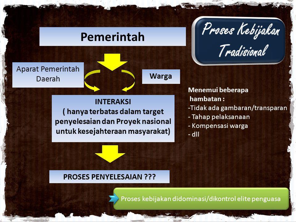 Proses Kebijakan Tradisional