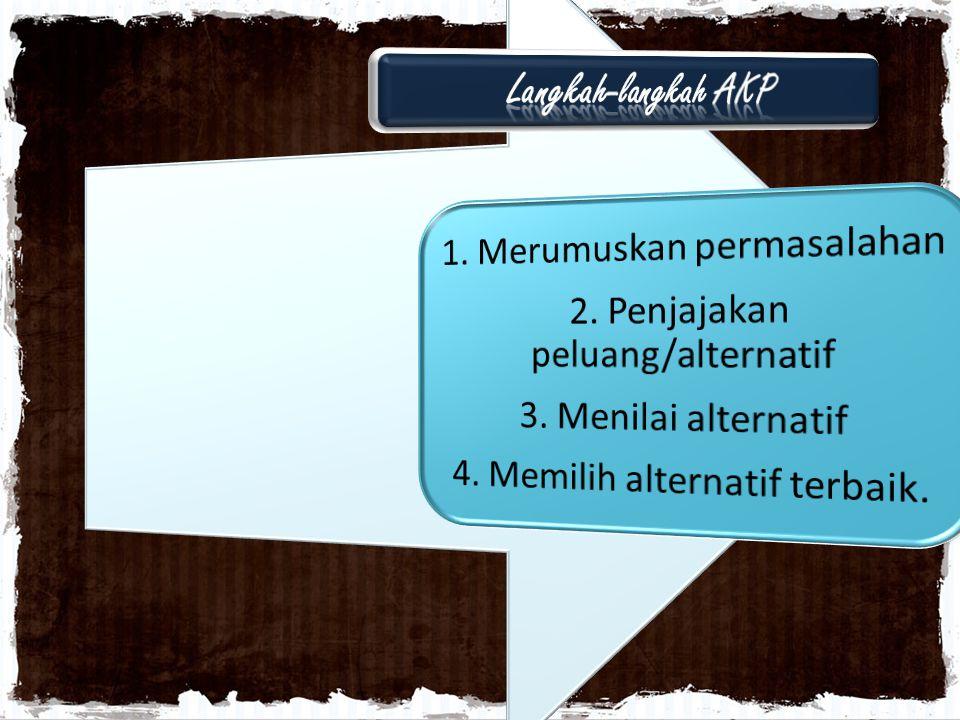 Langkah-langkah AKP 1. Merumuskan permasalahan