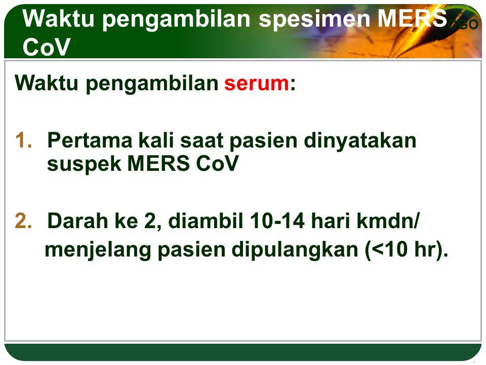 Waktu pengambilan spesimen MERS CoV
