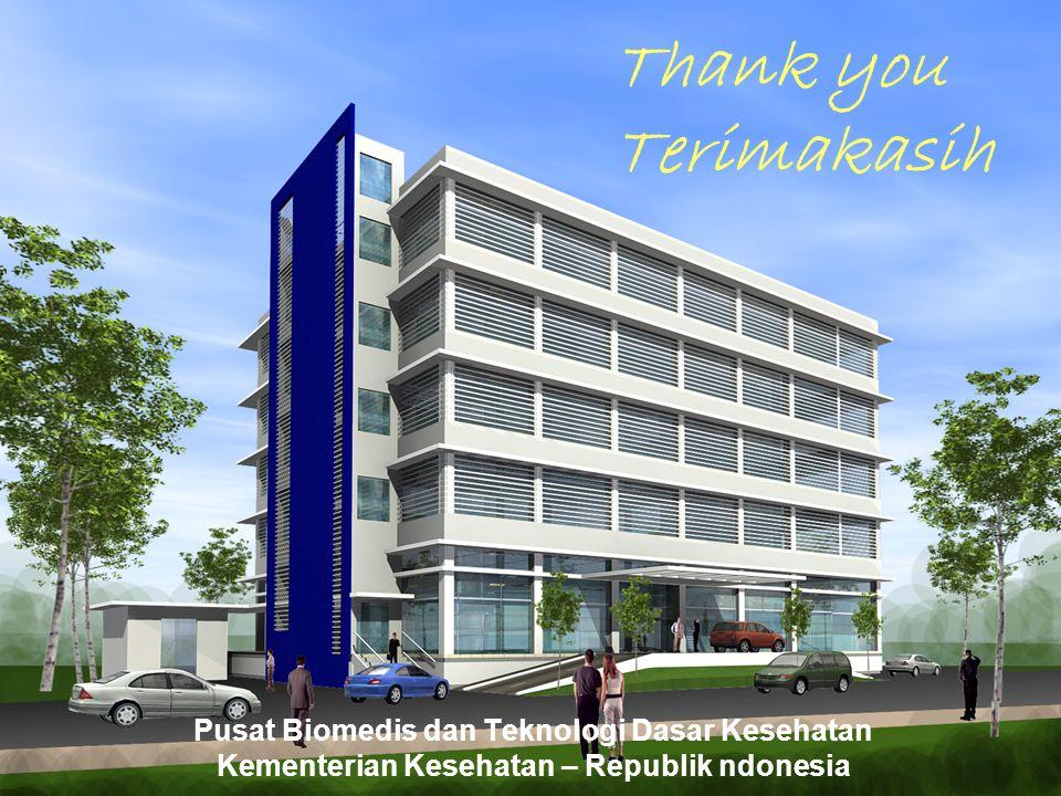 Thank you Terimakasih Pusat Biomedis dan Teknologi Dasar Kesehatan