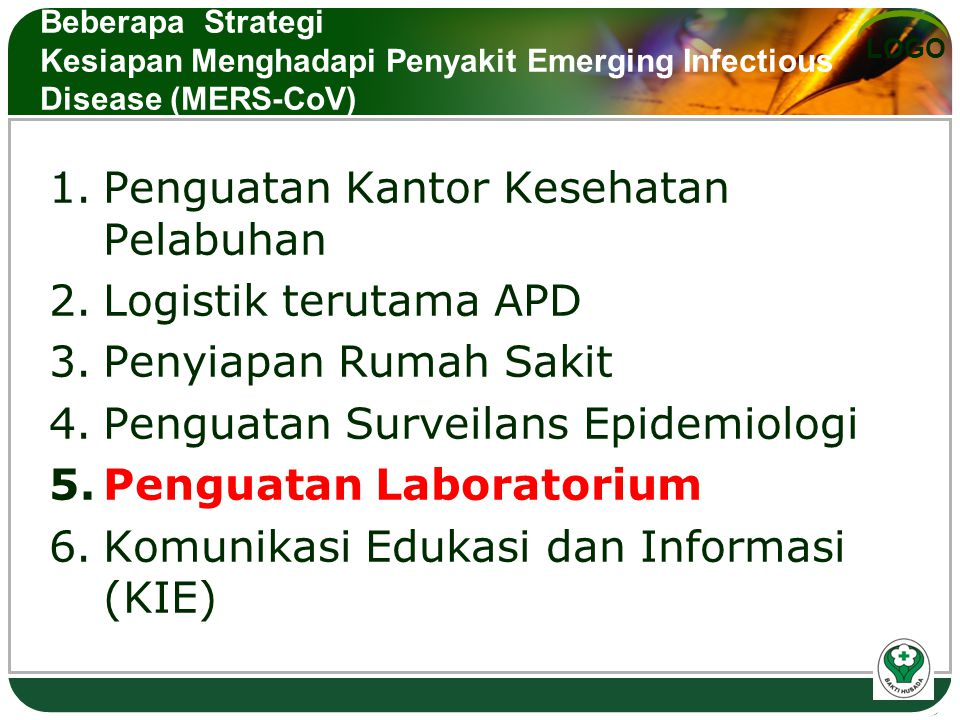 Penguatan Kantor Kesehatan Pelabuhan Logistik terutama APD