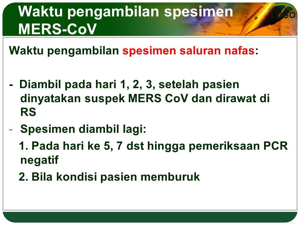 Waktu pengambilan spesimen MERS-CoV
