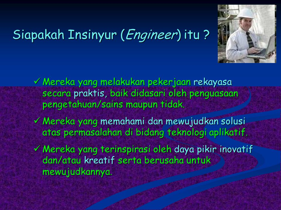 Siapakah Insinyur (Engineer) itu