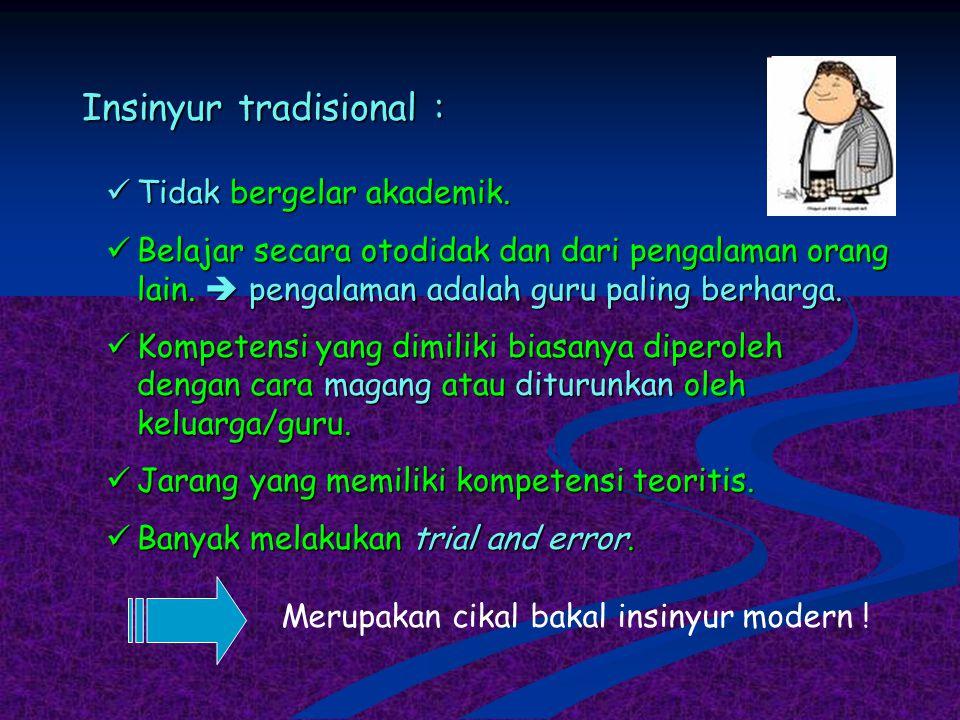 Insinyur tradisional :