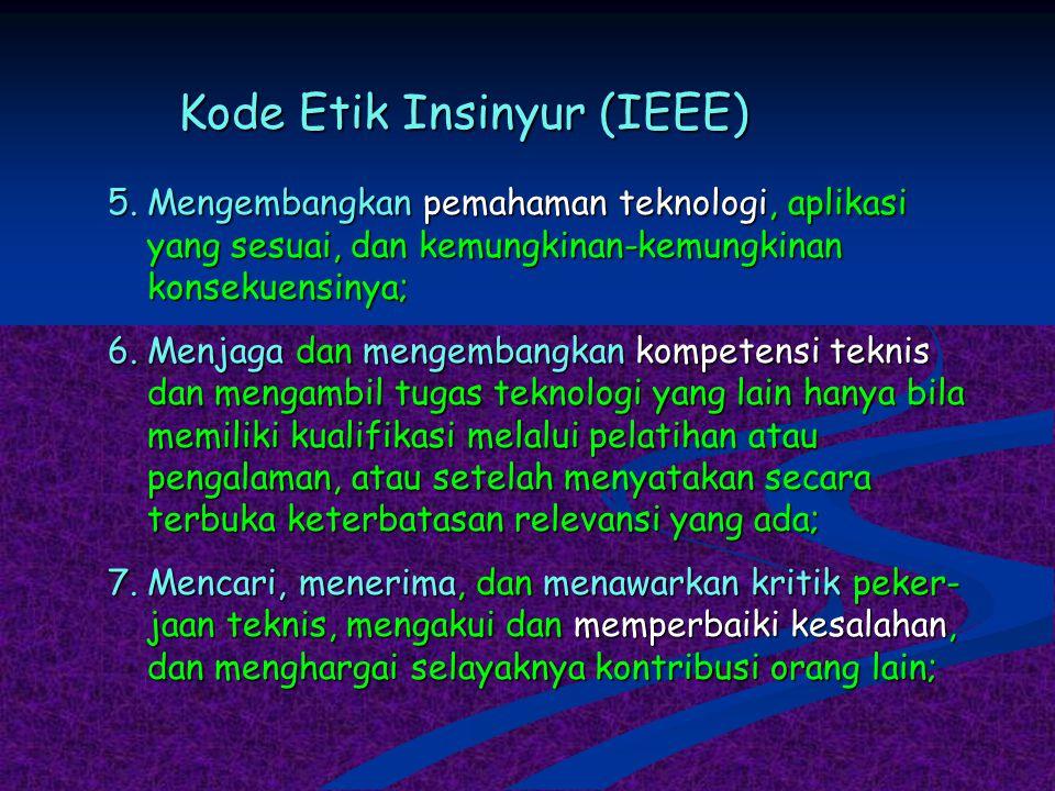 Kode Etik Insinyur (IEEE)