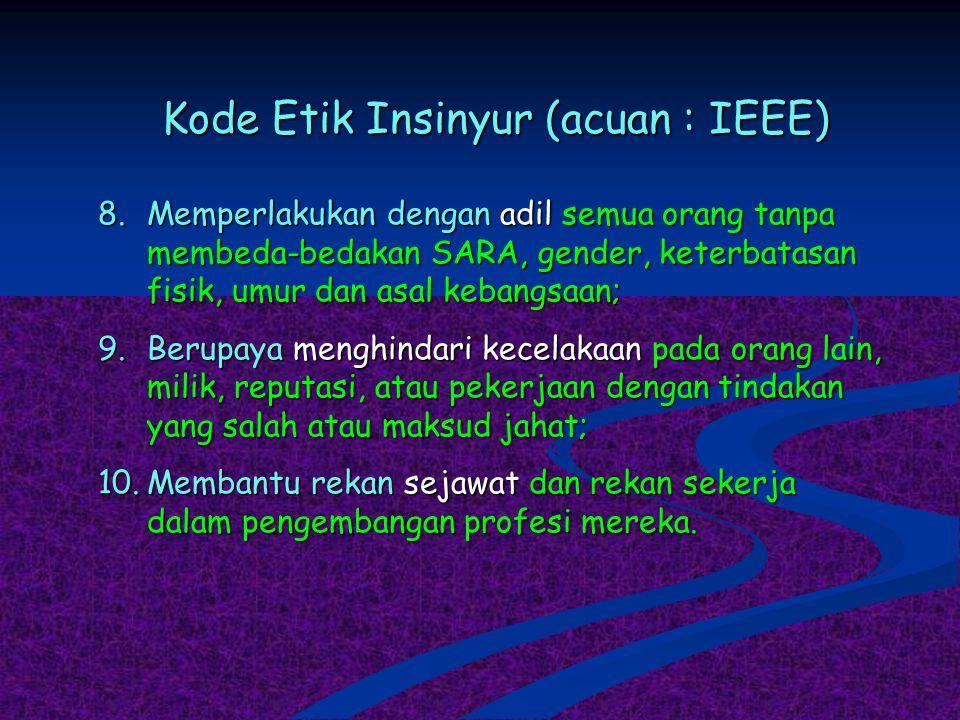 Kode Etik Insinyur (acuan : IEEE)