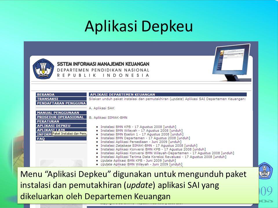 Aplikasi Depkeu