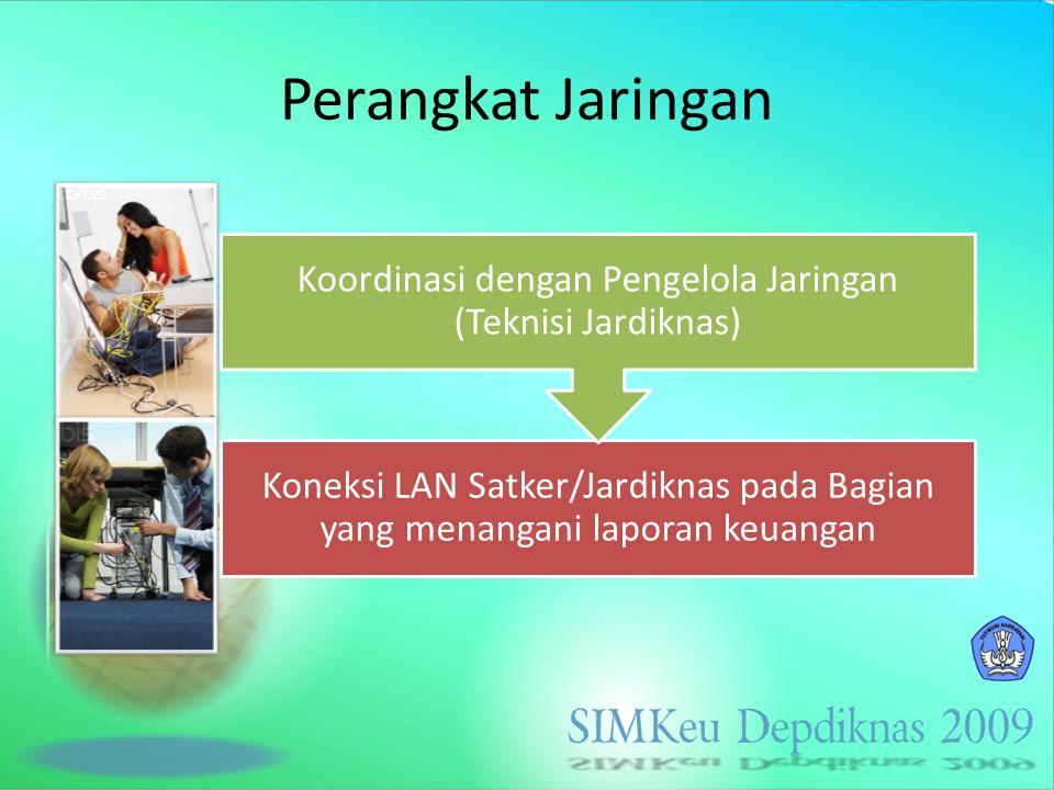 Koordinasi dengan Pengelola Jaringan (Teknisi Jardiknas)