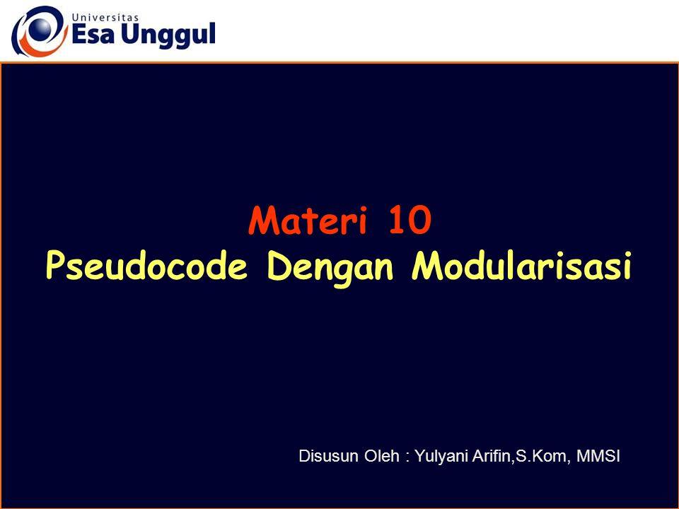Pseudocode Dengan Modularisasi
