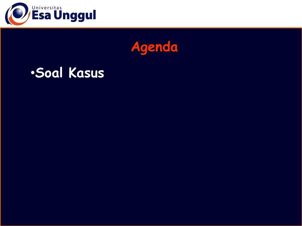 Agenda Soal Kasus