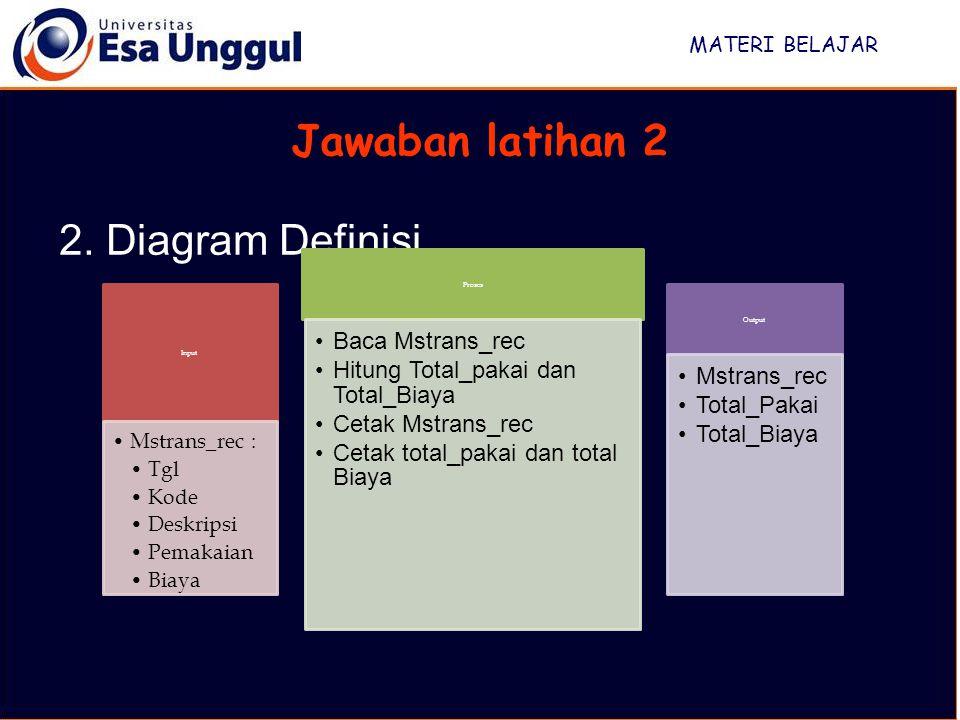 Jawaban latihan 2 2. Diagram Definisi Baca Mstrans_rec