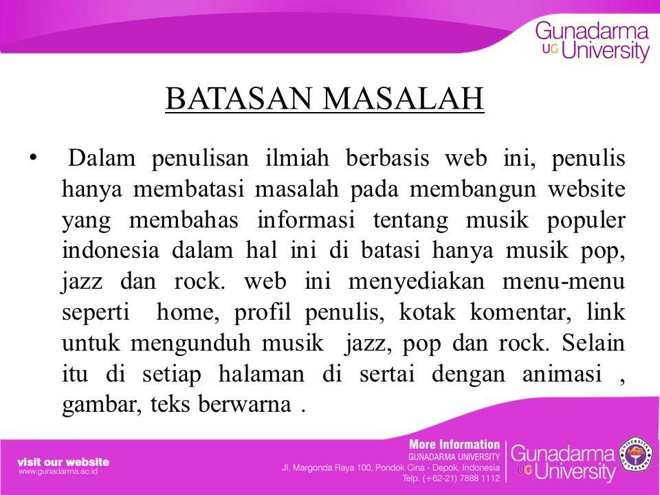 BATASAN MASALAH