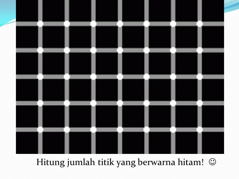 Hitung jumlah titik yang berwarna hitam! 