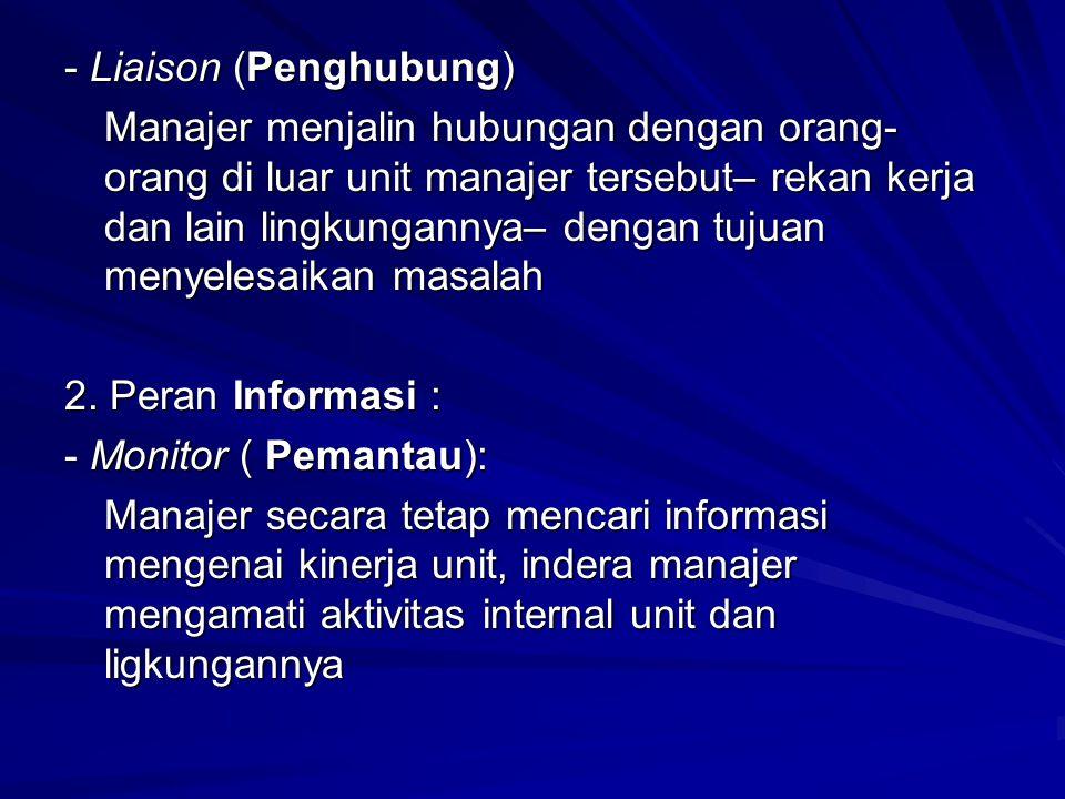 - Liaison (Penghubung)