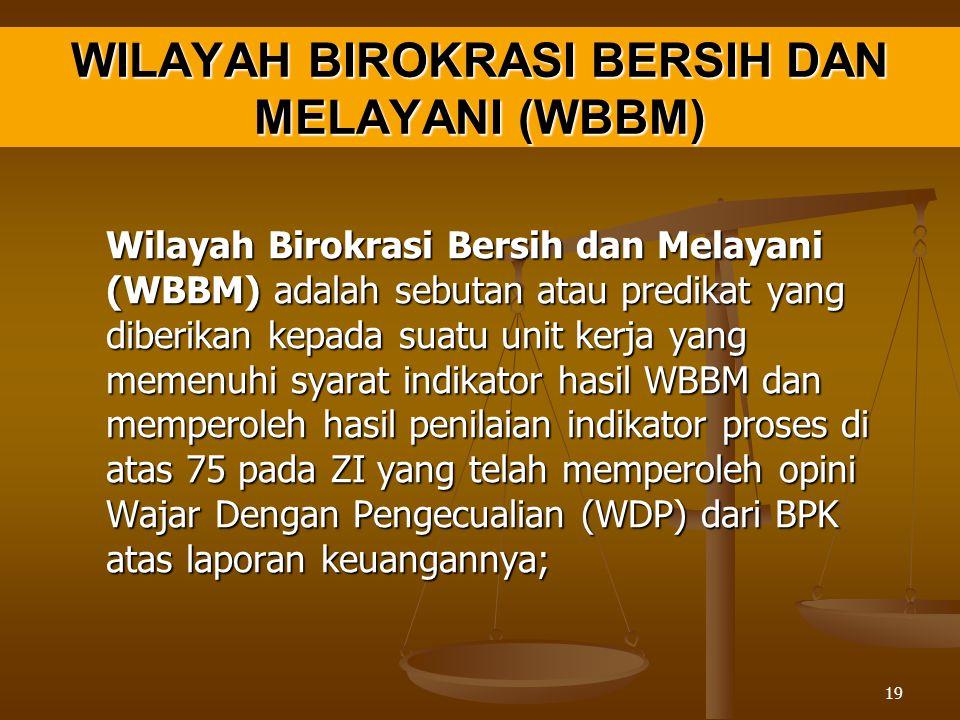 WILAYAH BIROKRASI BERSIH DAN MELAYANI (WBBM)