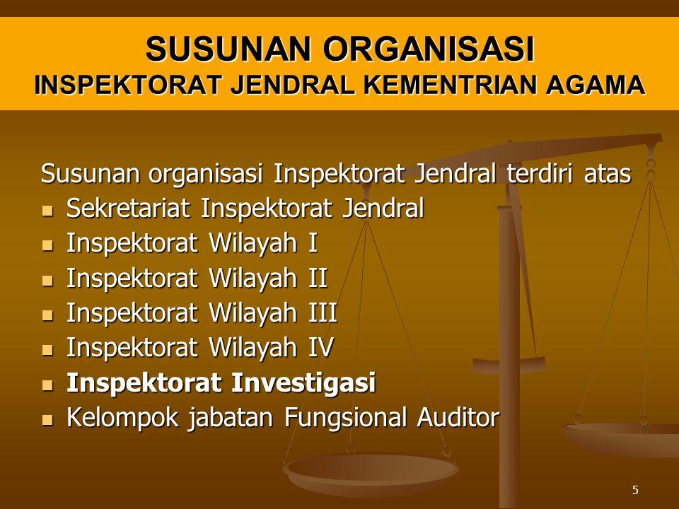 SUSUNAN ORGANISASI INSPEKTORAT JENDRAL KEMENTRIAN AGAMA