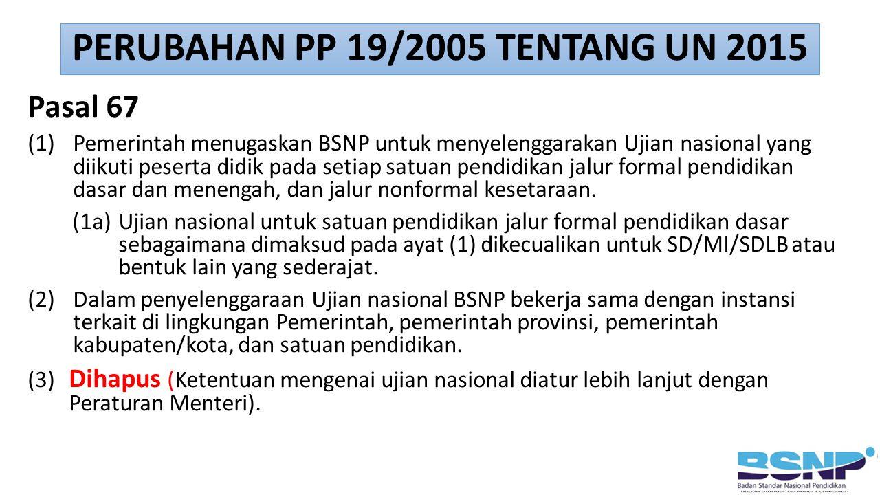 PERUBAHAN PP 19/2005 TENTANG UN 2015