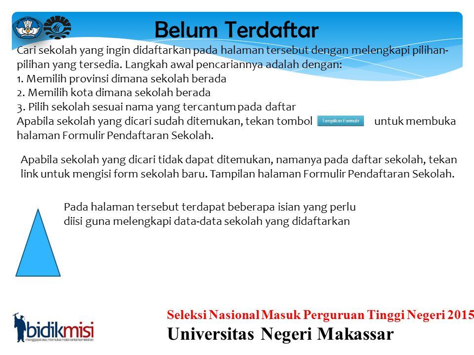 Belum Terdaftar Universitas Negeri Makassar