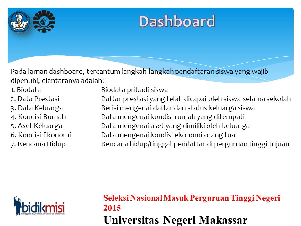 Dashboard Universitas Negeri Makassar