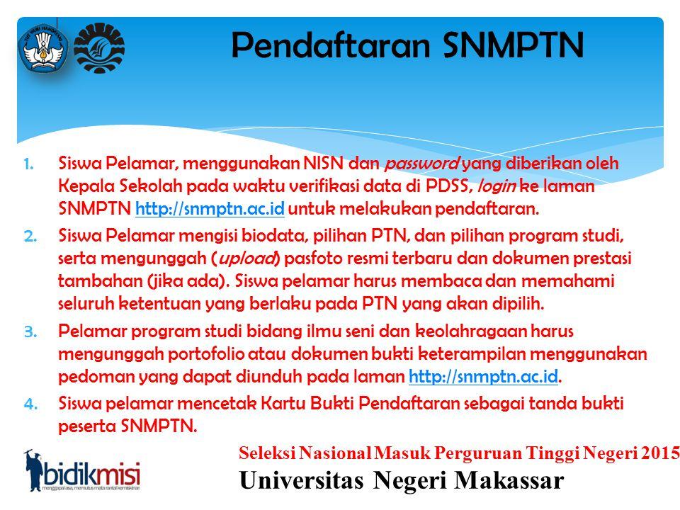 Pendaftaran SNMPTN Universitas Negeri Makassar