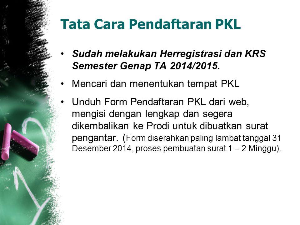 Tata Cara Pendaftaran PKL