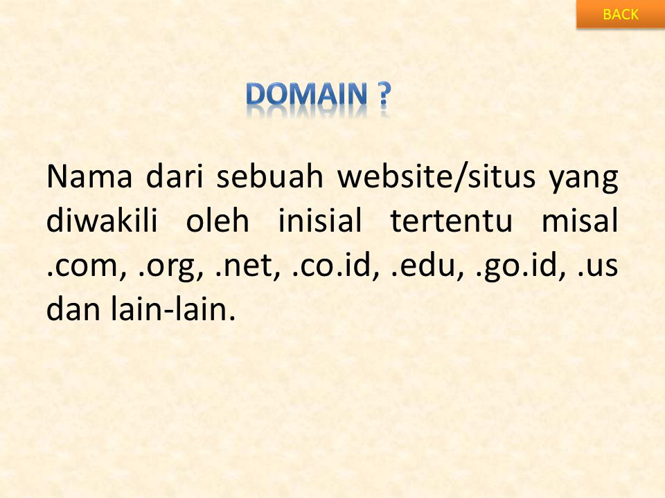 BACK Domain .
