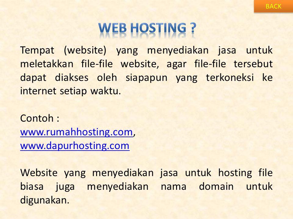 BACK Web Hosting
