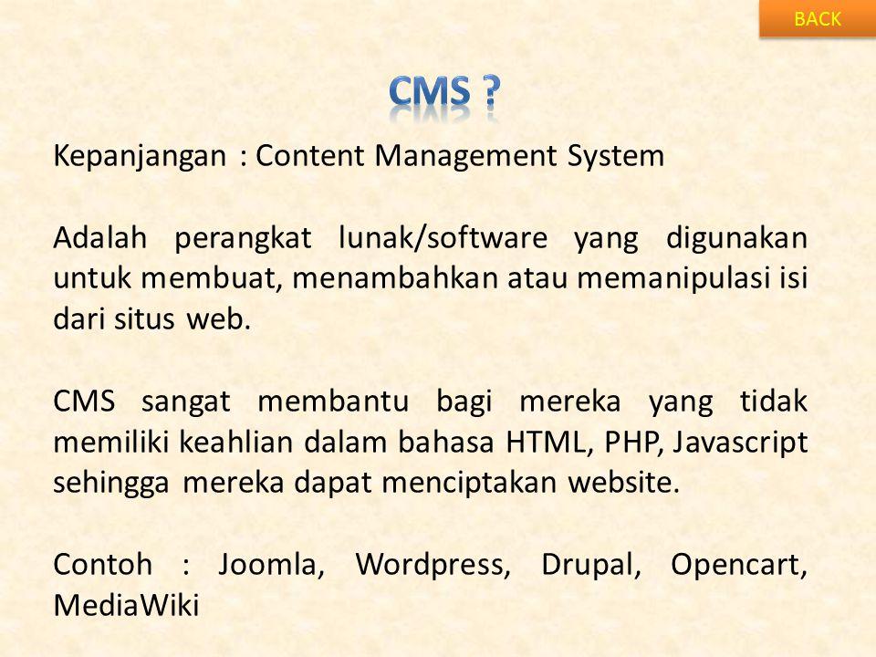Cms Kepanjangan : Content Management System