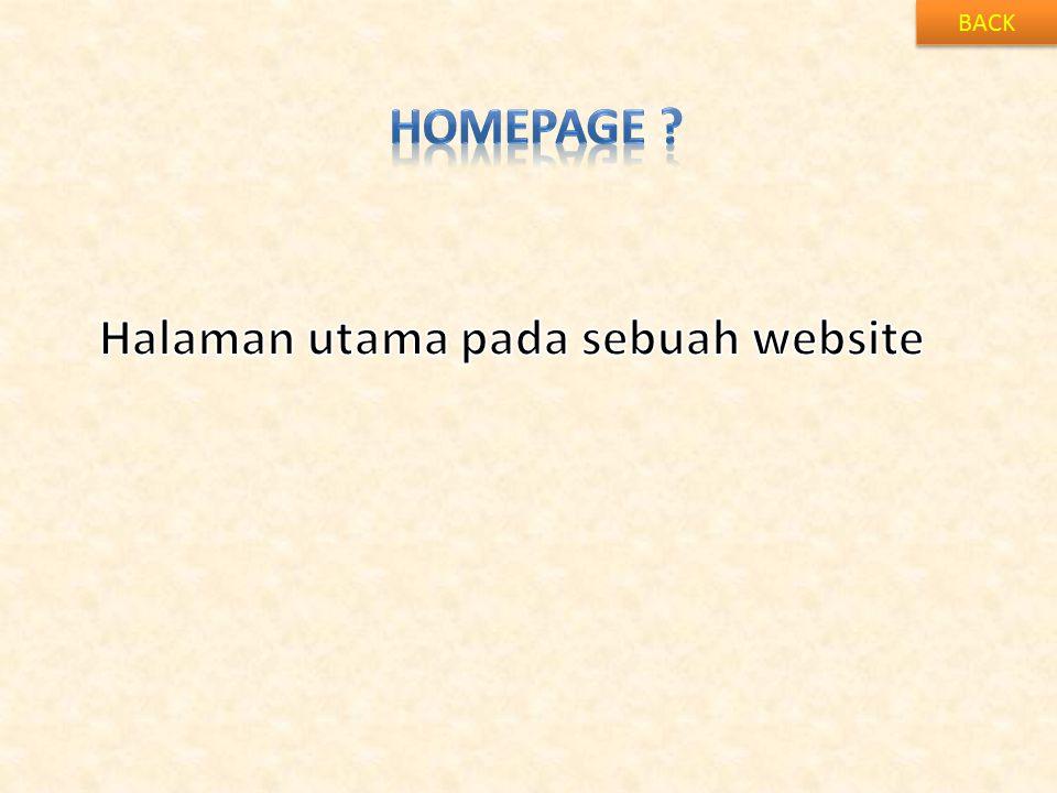 Halaman utama pada sebuah website