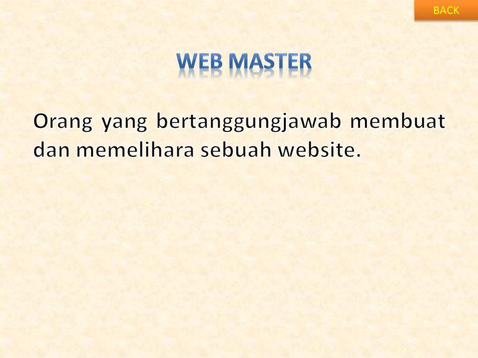 Orang yang bertanggungjawab membuat dan memelihara sebuah website.