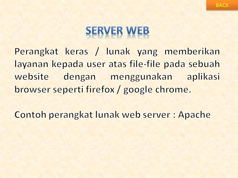 BACK SERVER WEB.