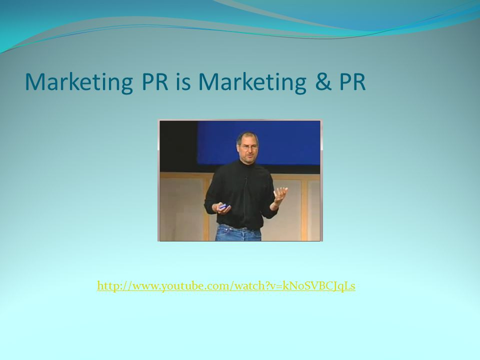 Marketing PR is Marketing & PR