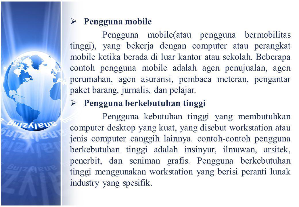 Pengguna mobile