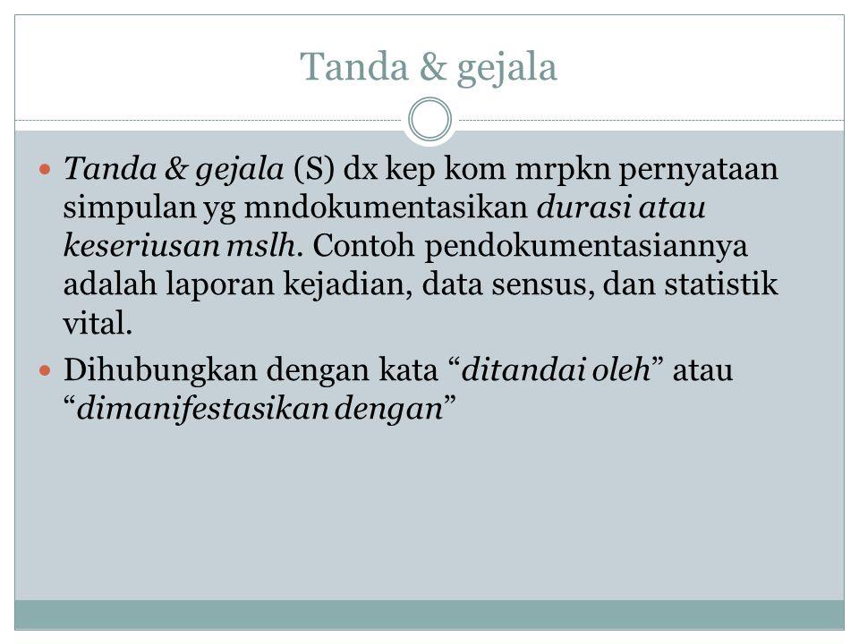 Tanda & gejala