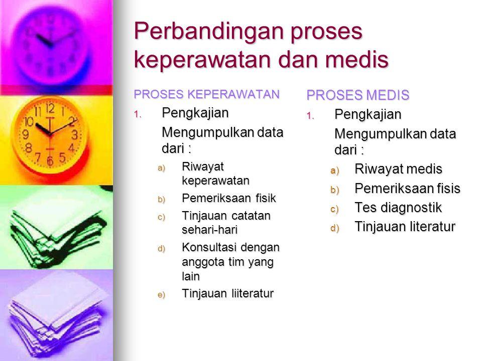 Perbandingan proses keperawatan dan medis