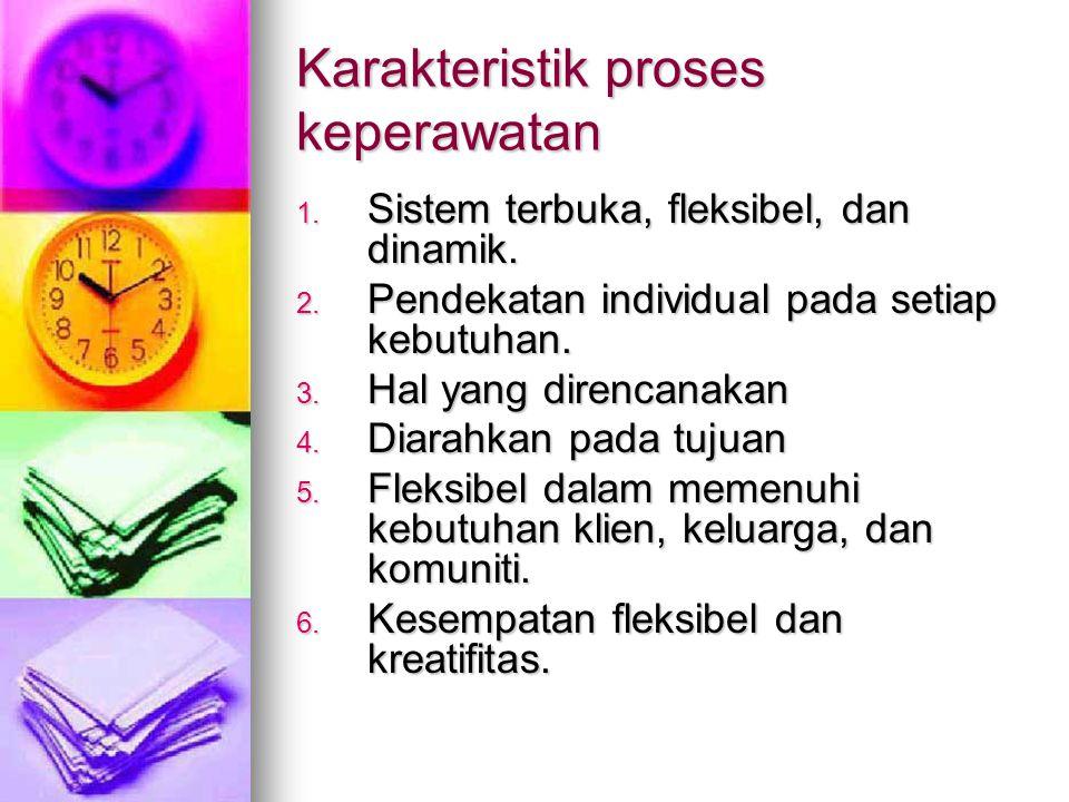 Karakteristik proses keperawatan
