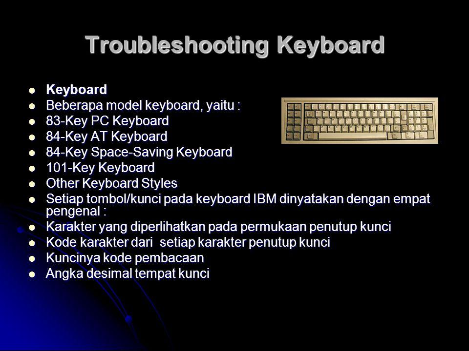 Troubleshooting Keyboard