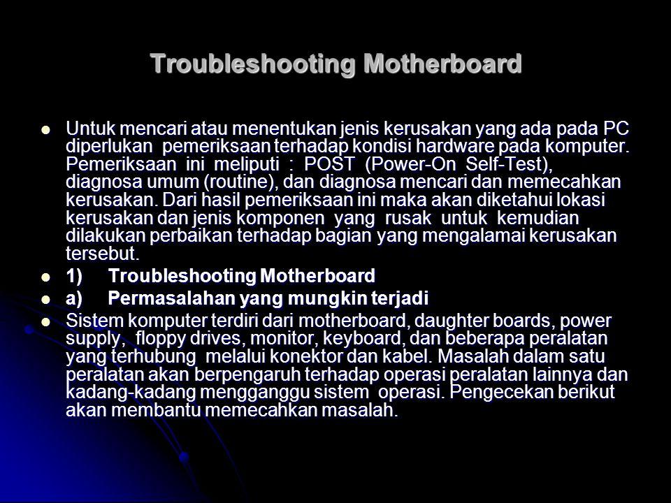 Troubleshooting Motherboard