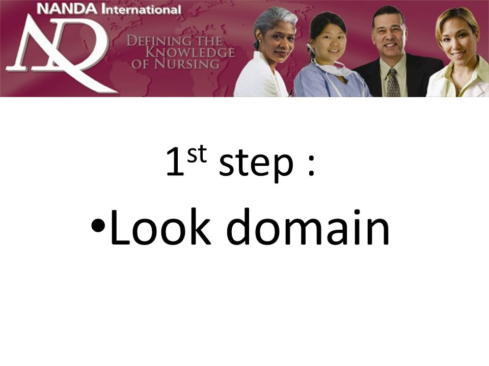 1st step : Look domain