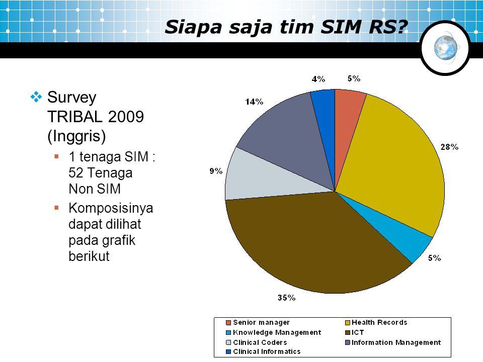 Siapa saja tim SIM RS Survey TRIBAL 2009 (Inggris)