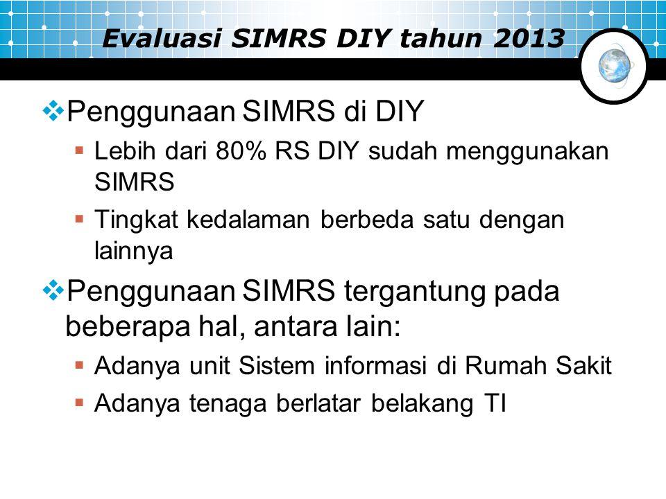 Evaluasi SIMRS DIY tahun 2013