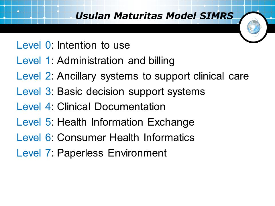 Usulan Maturitas Model SIMRS