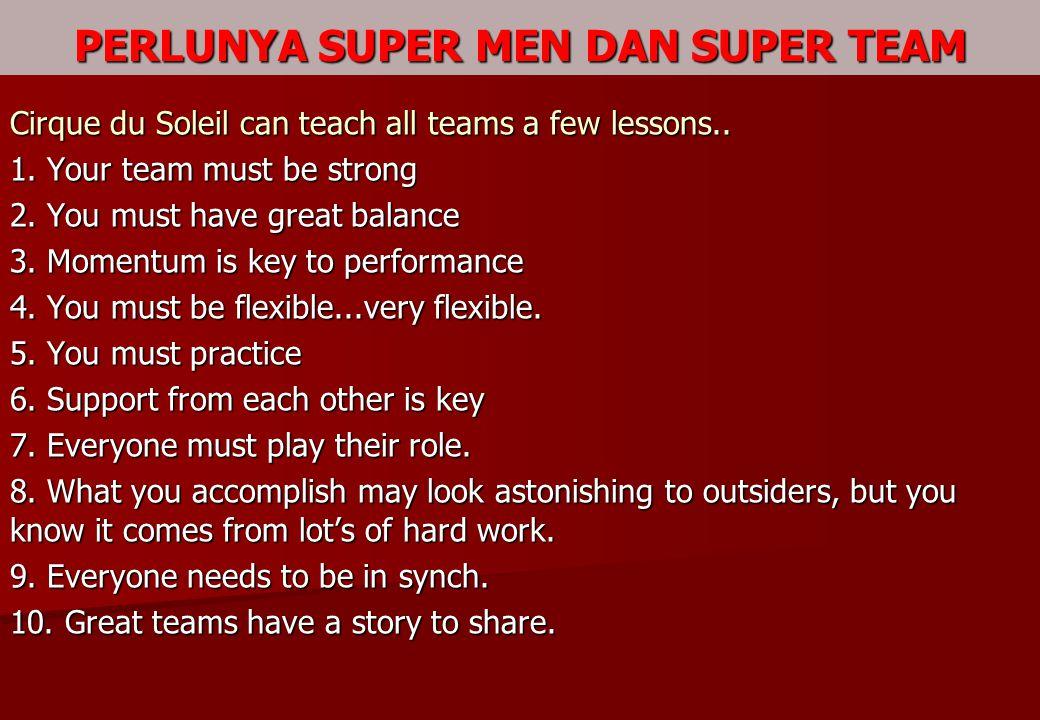 PERLUNYA SUPER MEN DAN SUPER TEAM
