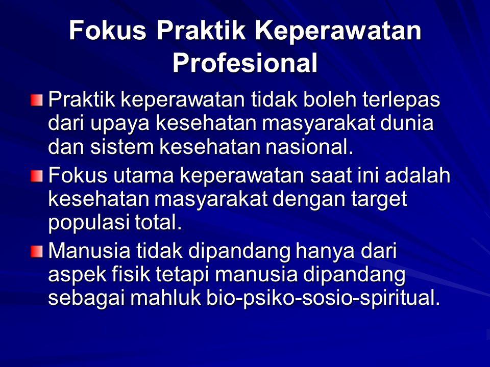 Fokus Praktik Keperawatan Profesional