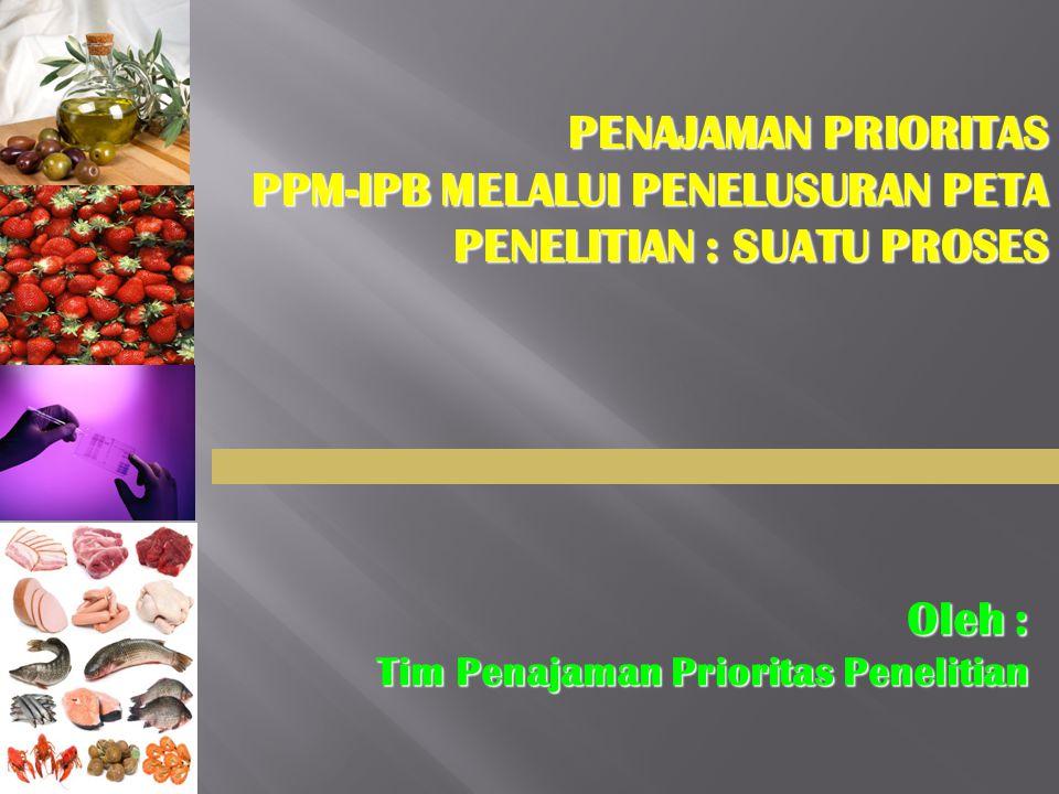 PPM-IPB MELALUI PENELUSURAN PETA PENELITIAN : SUATU PROSES