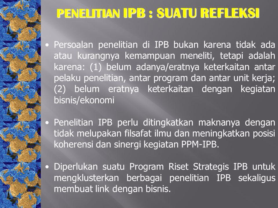 PENELITIAN IPB : SUATU REFLEKSI