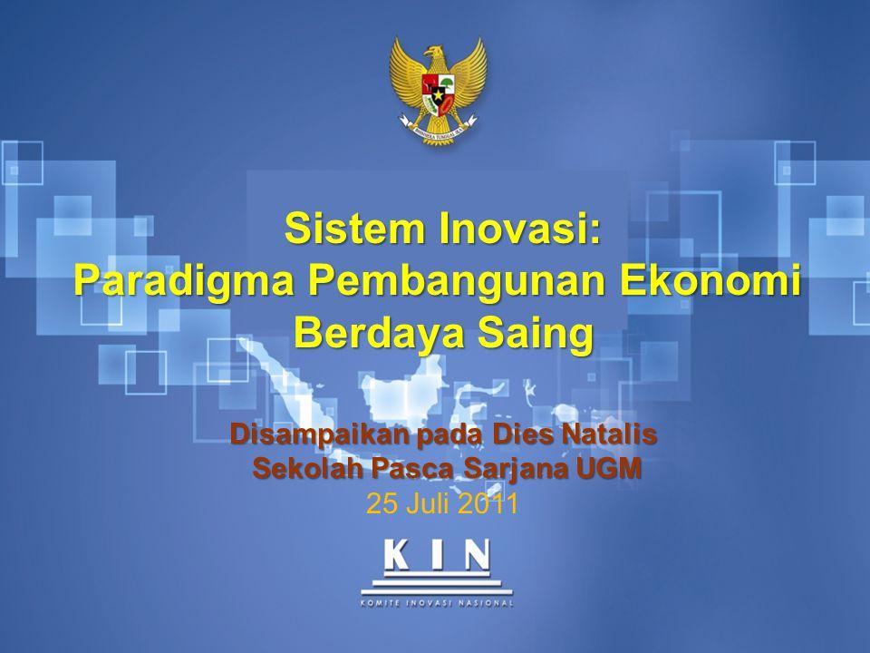Sistem Inovasi: Paradigma Pembangunan Ekonomi Berdaya Saing