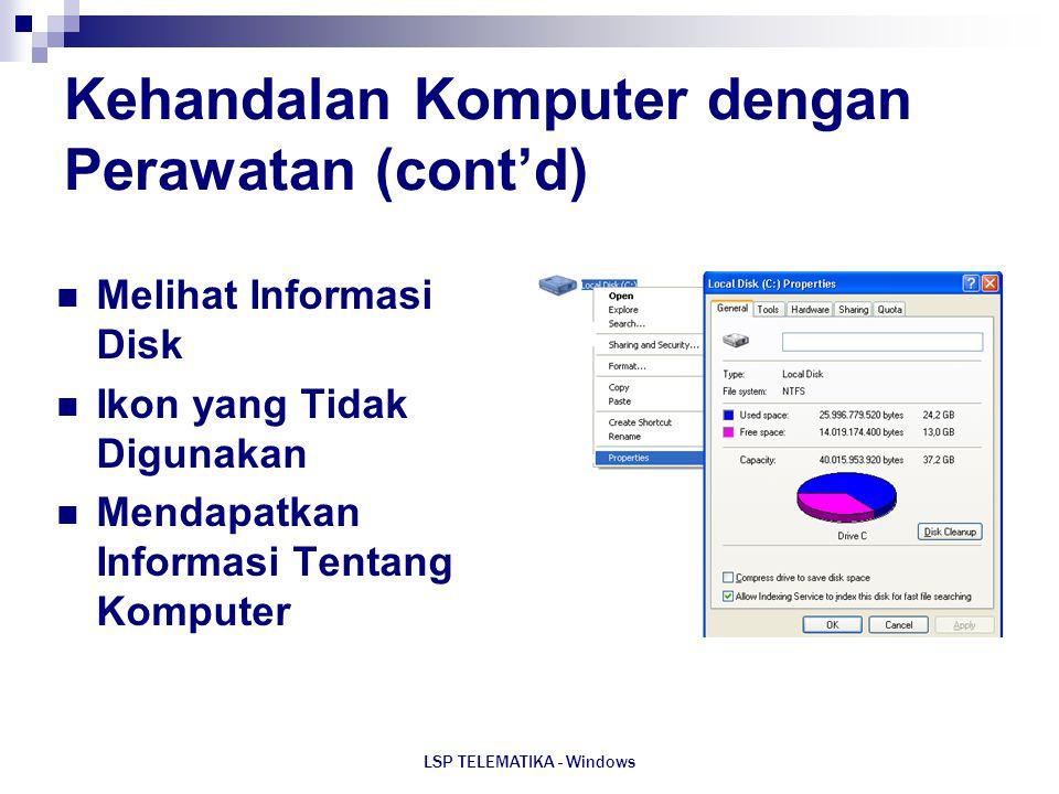 Kehandalan Komputer dengan Perawatan (cont'd)